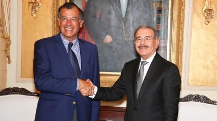 El presidente del Club Med y su visita de cortesía a Danilo Medina